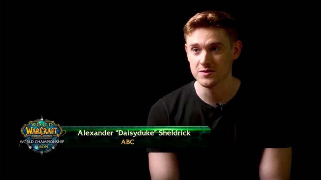 "Alexander ""Daisyduke"" Sheldrick form Team ABC of World of Warcraft"