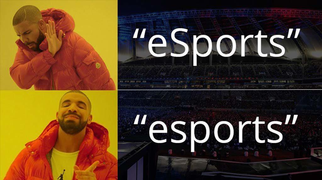 Forma correcta de escribir esports
