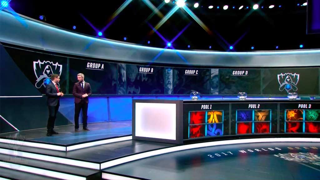 Stage del sorteo de play-in y grupos del Campeonato Mundial de League of Legends 2017